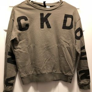Army Green Knockdown Sweatshirt by H&M. Size Small